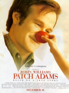 Robin Williams in de rol van Patch Adams, de dokter die met humor genas!!