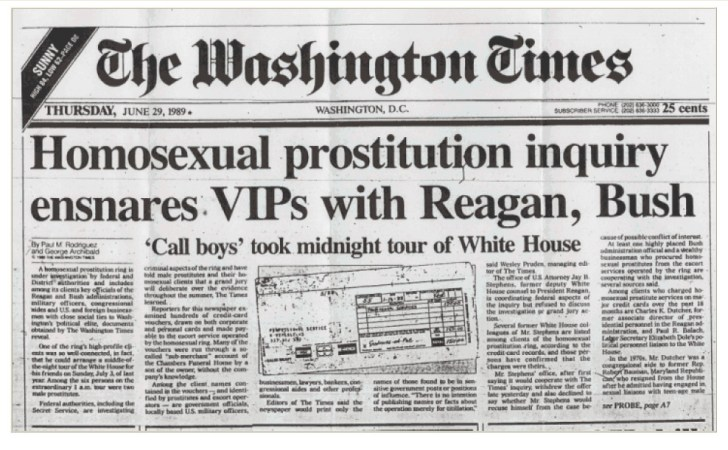 pedofilie bush reagan washington post