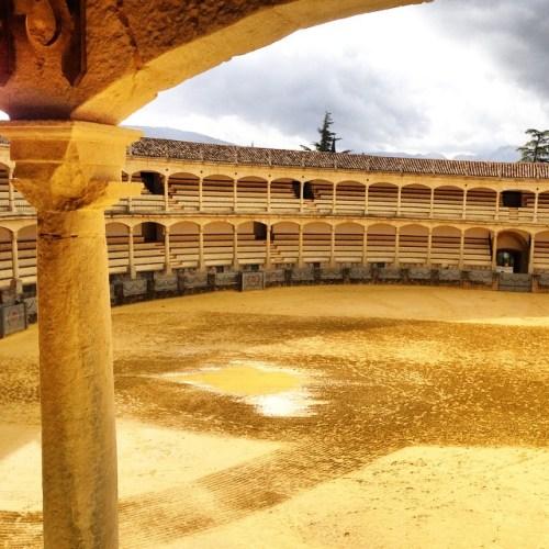 plaza de toros rain