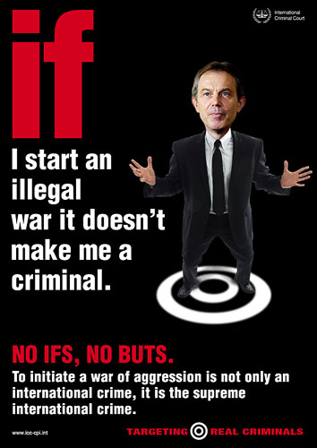 Er zijn veel partijen die Tony Blair's gedrag in klare taal neerzetten.