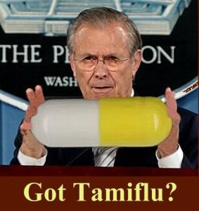 3 x Raden wie er achter het middel Tamiflu zit? Donald Rumsfeld, van 1987 -1997, toen hij Minister van Defensie werd en beroemd ging worden met zijn rol in de Irak-oorlog en de 9-11 aanslagen.