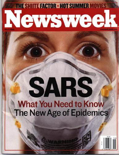Sars werd als een ware epidemie gepresenteerd. De media, in handen van de elite, werkte hard mee..