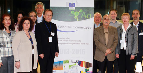 De EU-SCENHIR-groep, die feitelijk verantwoordelijk is voor onze lichamelijke veiligheid. Foto uit april 2013, bij de eerste samenkomst van deze 'club' gemaakt.