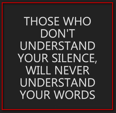 silence words understand