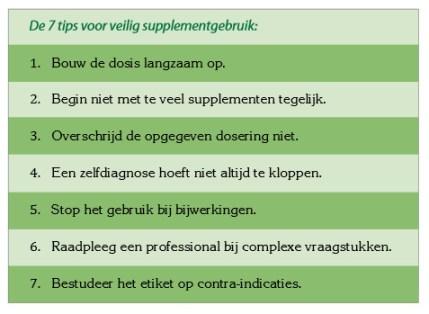 supplementen wijzer 7 tips voor veilig gebruik