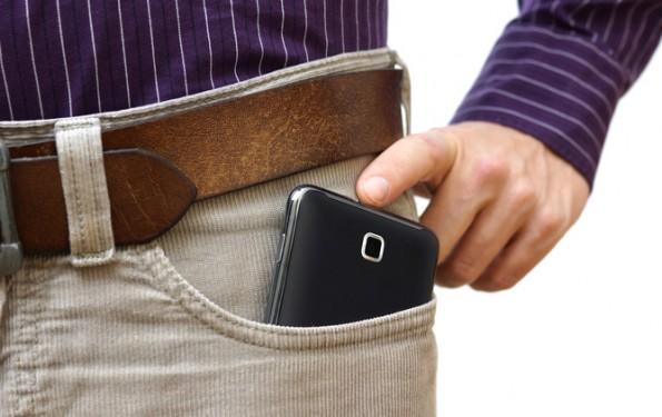 telefoon in je broekzak