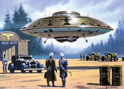 Zelfs de door de NAZI's verrichtte experimenten met vliegende schotel-achtige voertuigen, mogen kennelijk niet bekend worden..