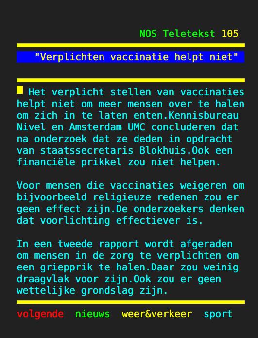 Rapport: 'Verplichte vaccinatie nutteloos'..!!