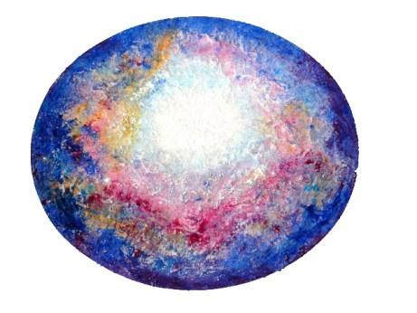 'Galactisch hart in de Kosmos' © Willeke Hendrikx