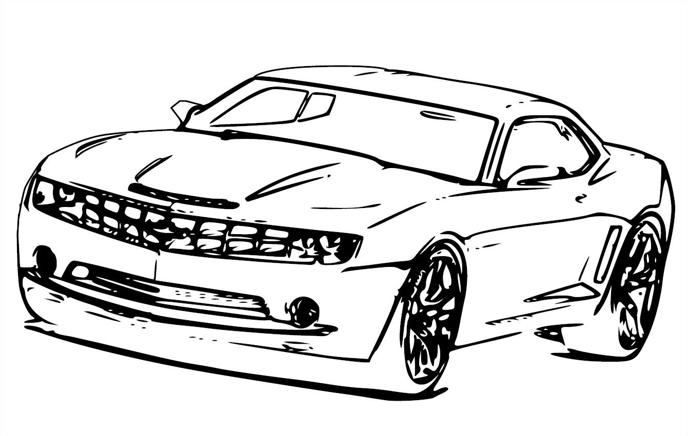 Coloriage Chevrolet Camaro Convertible Concept A Imprimer