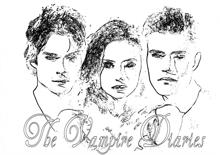 Vampire Diaries : Coloriage de la série The Vampire