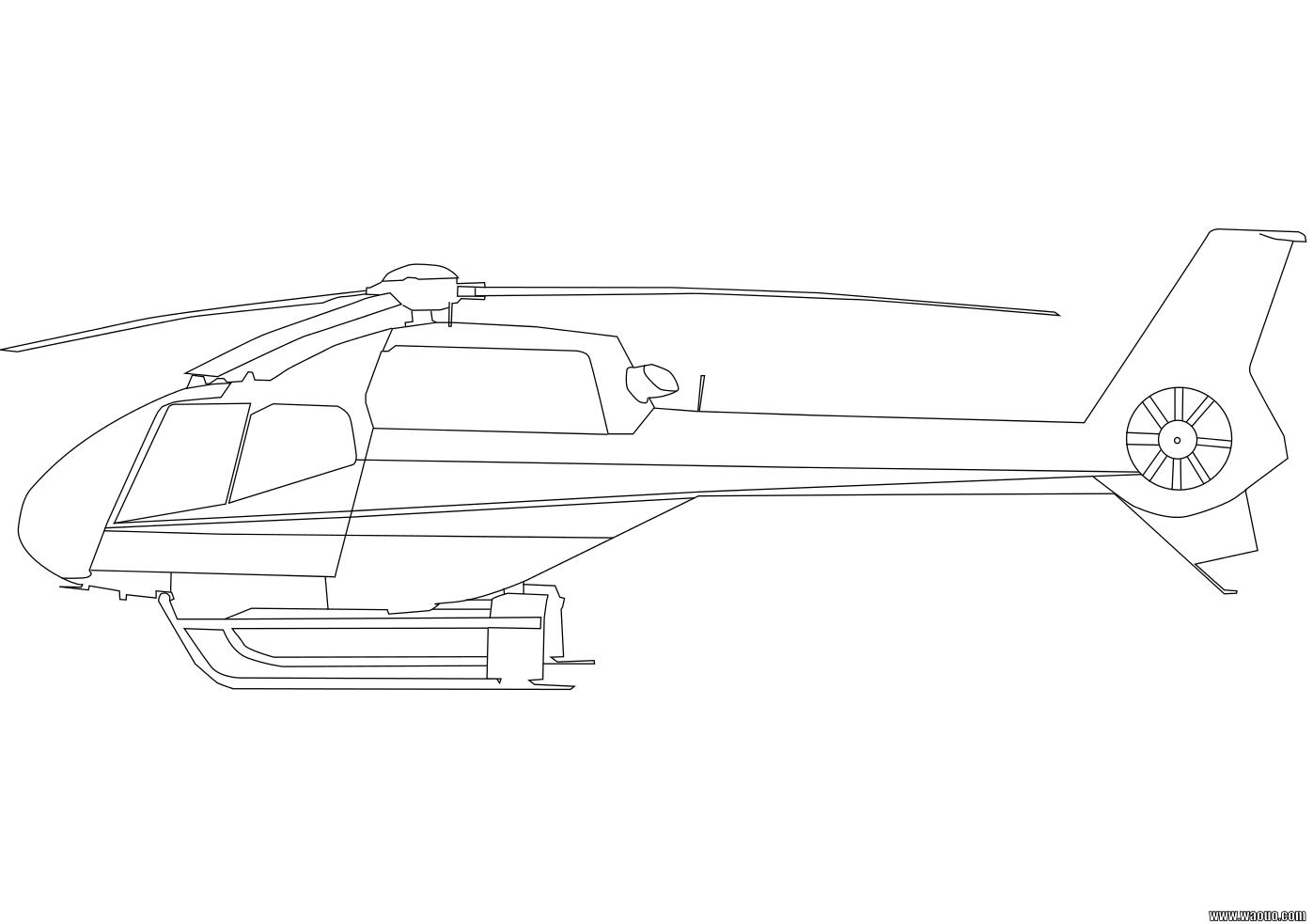 Hlicoptre  Coloriage Hlicoptre  imprimer et colorier