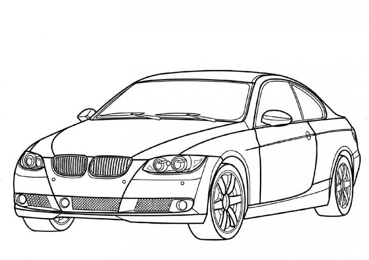 Coloriage voiture BMW à imprimer et colorier