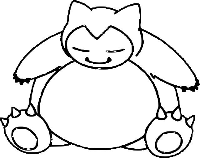 Ronflex : Coloriage Ronflex Pokemon à imprimer et colorier