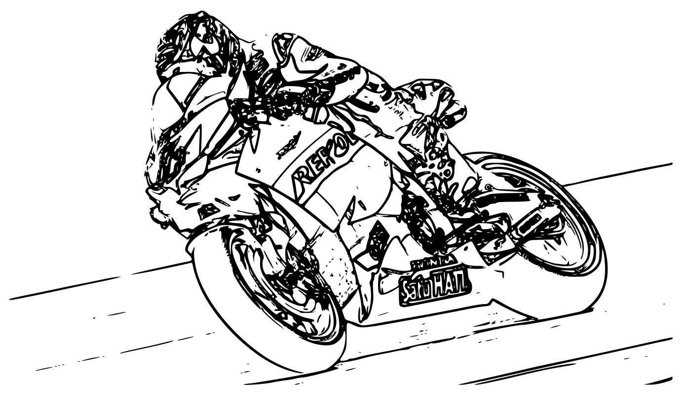 Coloriage moto de course à imprimer et colorier