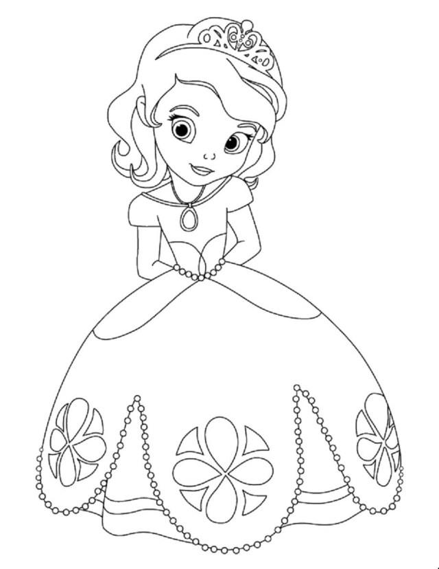Coloriage princesse Sofia Disney à imprimer et colorier