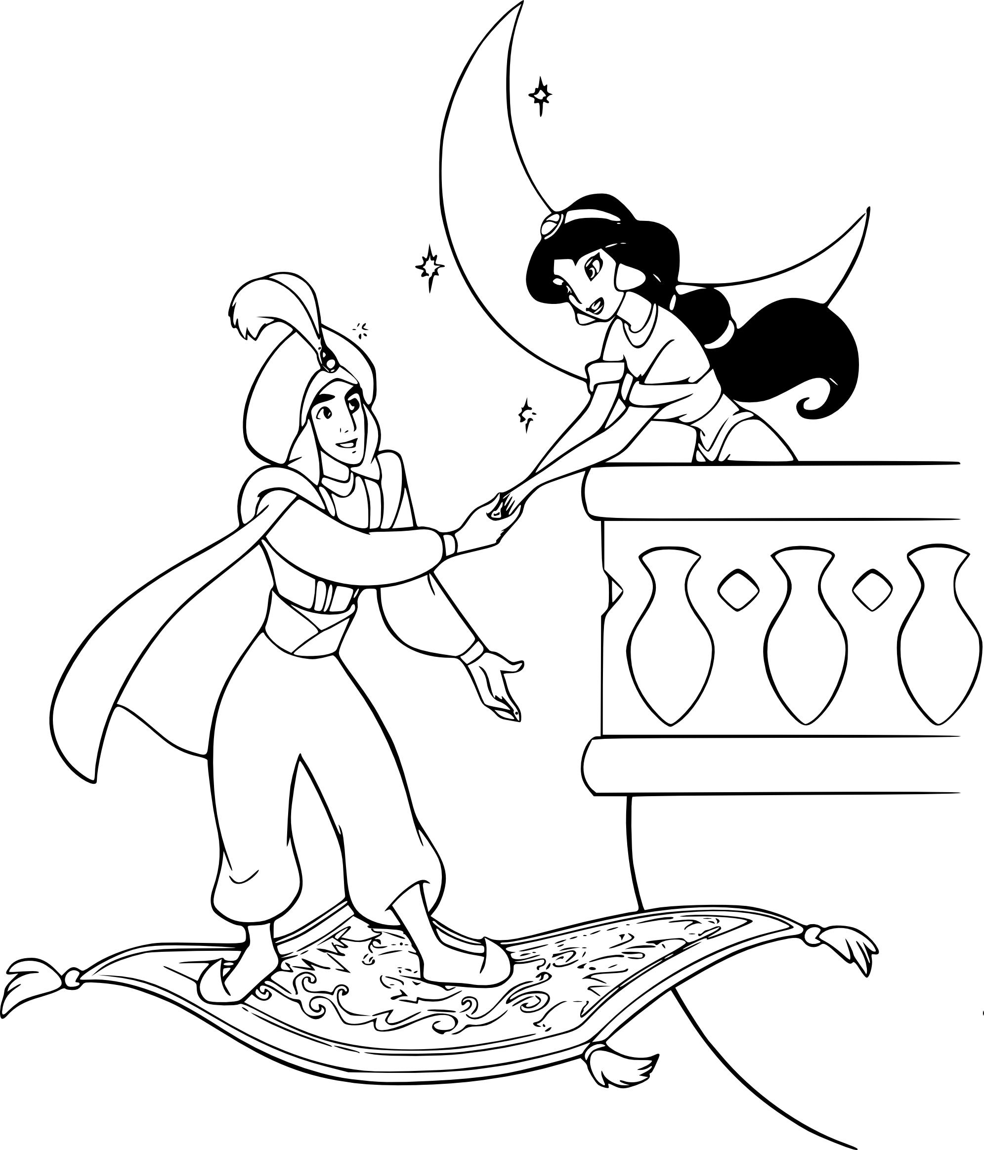 Unique Dessin A Imprimer Disney Aladdin