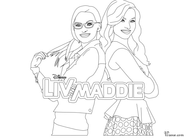 Coloriage Liv et Maddie gratuit à imprimer et colorier