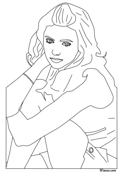 Coloriage Nina Dobrev de Vampire Diaries à imprimer et