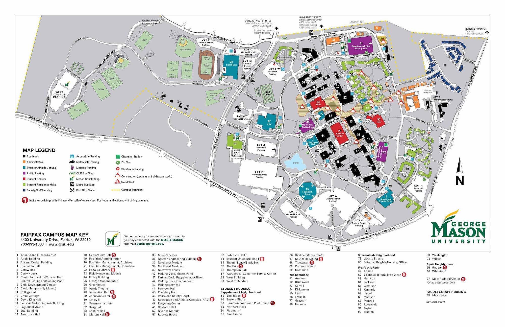 Virginia Tech Campus Map