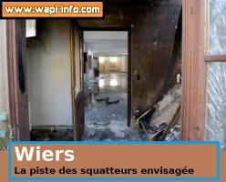 Wiers : la piste des squatteurs clairement envisagée pour l'incendie de l'ancienne école St-Joseph