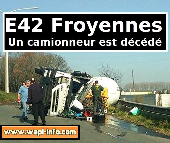 Le camionneur est décédé dans l'accident