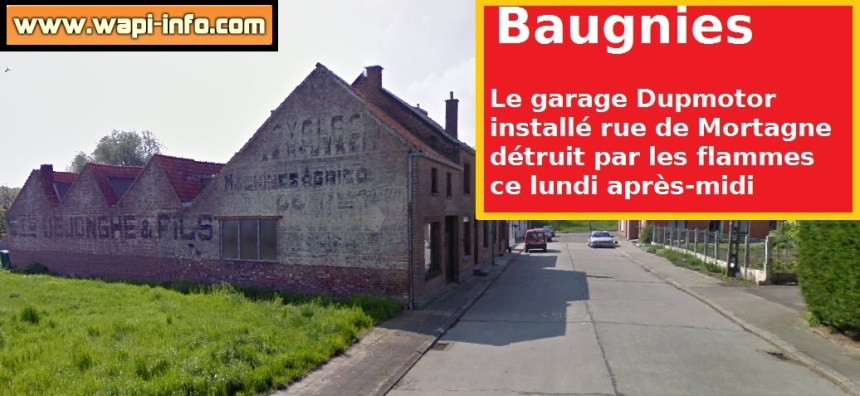 Un garage installé à la rue de Mortagne a brûlé