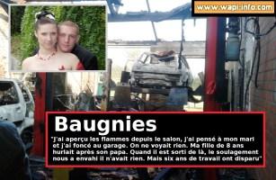"""Baugnies : 6 ans de travail en fumée - France écrit à son mari """"un bâtiment ça se reconstruit, des outils ça se remplacent, mais pas TOI"""""""