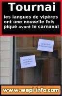 Tournai : les petits phrases des langues de vipères pour nous amuser - 228 affiches ont débarqué en ville