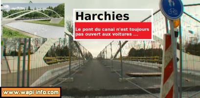 Harchies : le pont du canal ne supporte que les piétons et les vélos