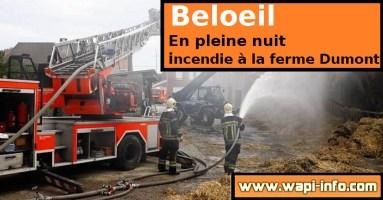 Beloeil : incendie à la ferme Dumont dans la nuit de mardi à mercredi