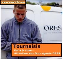Tournaisis : vol à la ruse - attention aux faux agents ORES