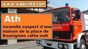 Incendie suspect d'une maison de la place de Bouvignies cette nuit