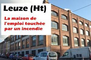 Leuze (Ht) : incendie à la rue d'Ath - ancienne bonneterie Dujardin