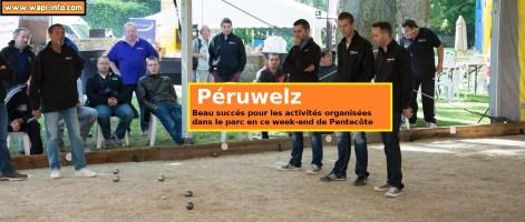 Péruwelz : plus de 2.000 visiteurs pour la pétanque, la terrasse du parc et les activités pour enfants