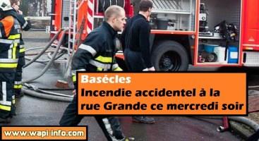 Basécles : incendie accidentel à la rue Grande ce mercredi 10 juin