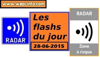 Tournaisis : contrôles radars annoncés entre 4h et 11h ce dimanche 28 juin 2015