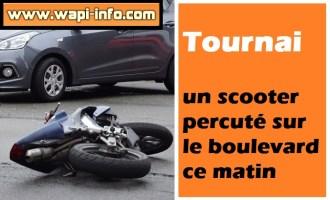 Tournai : un scooter percuté sur le boulevard
