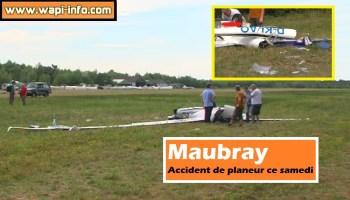 Maubray : accident de planeur ce samedi
