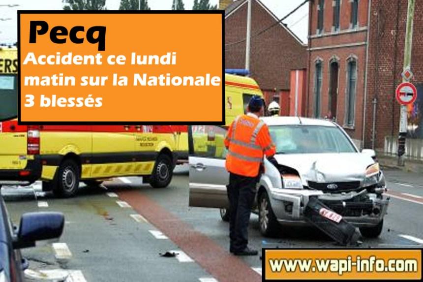 accident nationale pecq 20 juillet