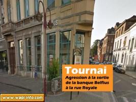 Tournai : agression à la sortie de la banque Belfius à la rue Royale