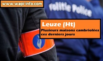 Leuze (Ht) : plusieurs maisons cambriolées ces derniers jours