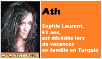 Ath : Sophie Laurent (41 ans) est décédée lors de vacances en famille en Turquie