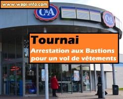 Tournai : arrestation aux Bastions pour un vol de vêtements