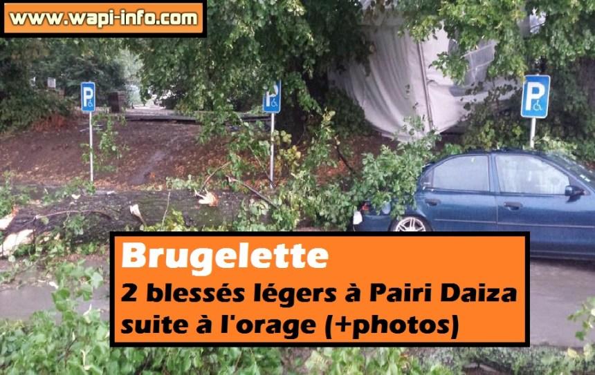 Brugelette 2 blessés pairi daiza