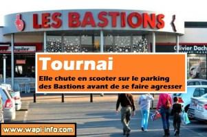 Tournai : agressée après une chute en scooter sur le parking des Bastions