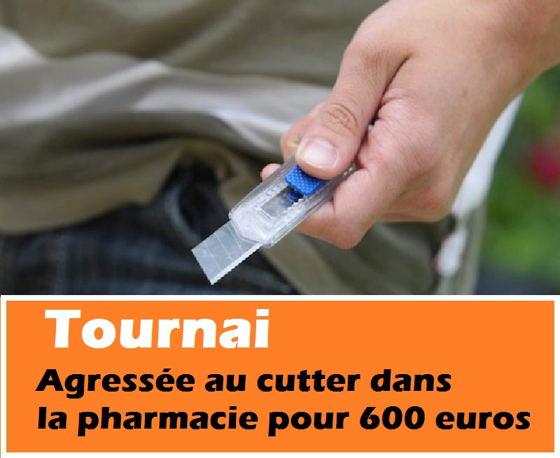 Tournai agression pharmacie