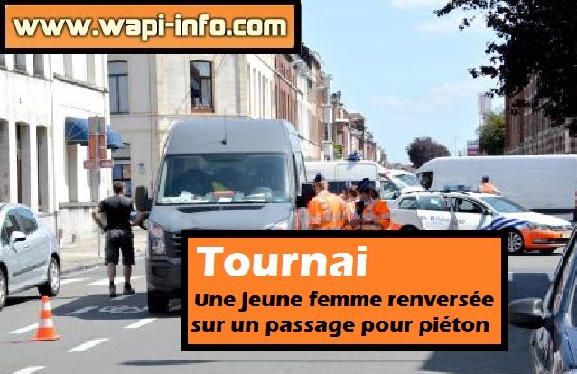 Tournai pieton renversee