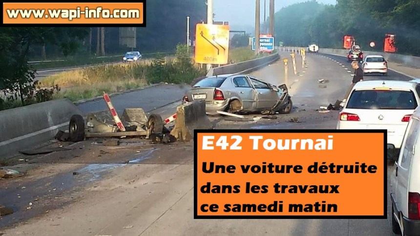 accident travaux tournai
