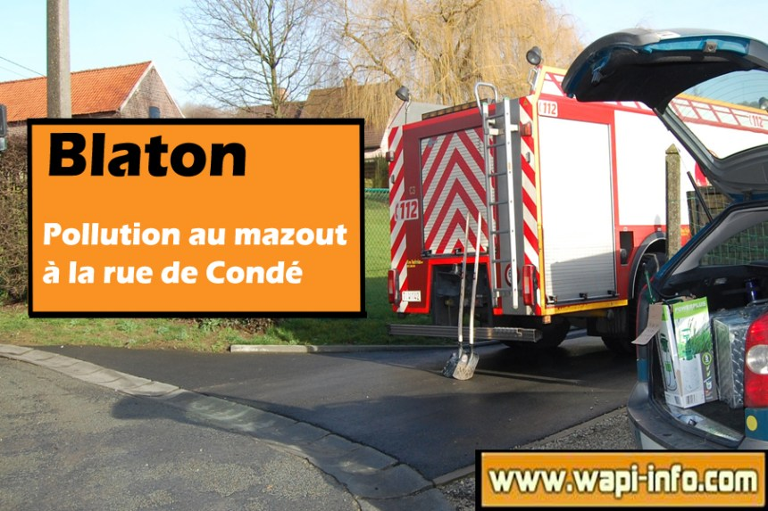 blaton pollution rue conde